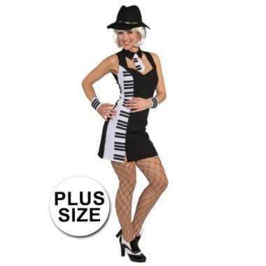 Big size verkleedjurkje piano jurk