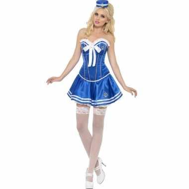 Blauwe matrozen verkleedjurkje voor dames