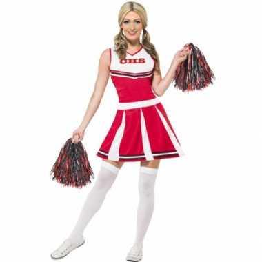 Cheerleader verkleedjurkje rood