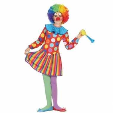 Clown dotty verkleedjurkje voor meisjes