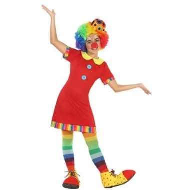 Clown floppy verkleedjurkje voor meisjes
