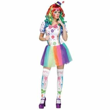 Compleet clowns verkleedjurkje paint voor dames