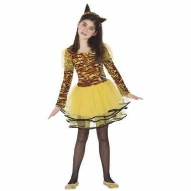 Dieren verkleedjurkje tijger cara voor meisjes