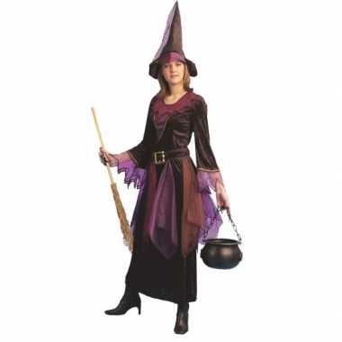Halloween verkleedjurkje heks paars
