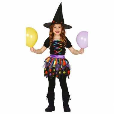 Heksen kinder verkleedjurkje met hoed