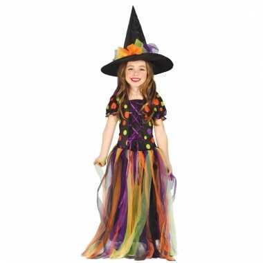 Heksen verkleedverkleedjurkje regenboog voor meisjes