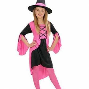Heksenverkleedjurkje meisjes roze