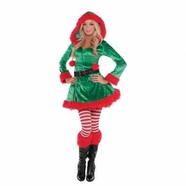 Kerstelfen verkleedjurkje voor dames