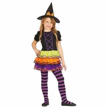 Meisjes heksenverkleedjurkje met gekleurde rok