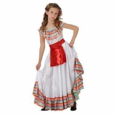 Mexicaans meisje verkleedjurkje met rood schortje