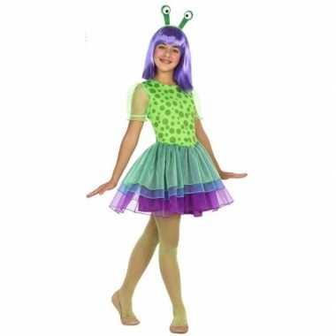 Neon alien verkleedjurkje voor meisjes