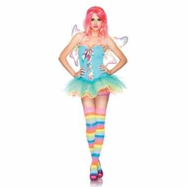 Regenboog fairy verkleedjurkje voor dames
