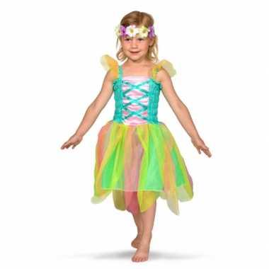 Regenboog fee verkleedjurkje voor meisjes