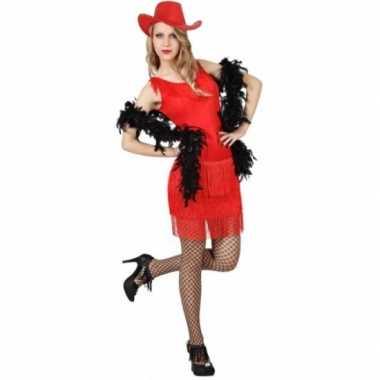 Rood feestverkleedjurkje voor dames
