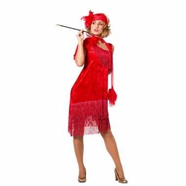 Rood twenties verkleedverkleedjurkje