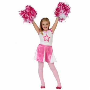 Roze cheerleaders verkleedjurkje kids