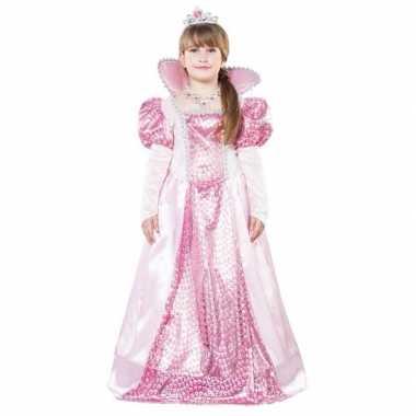 Roze koningin verkleedjurkje voor meisjes