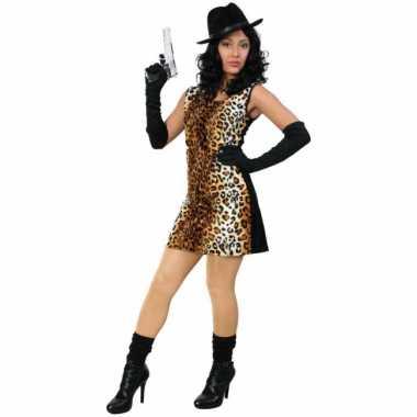 Sexy verkleedverkleedjurkje met tijgerprint