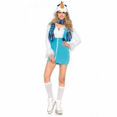 Sneeuwpop verkleedjurkje voor vrouwen