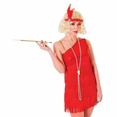 Twenties dames verkleedjurkje robijn rood