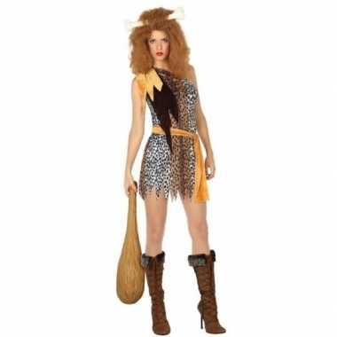 Verkleed cavewoman verkleedjurkje voor dames