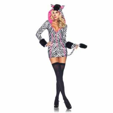 Zebra verkleedjurkje voor dames