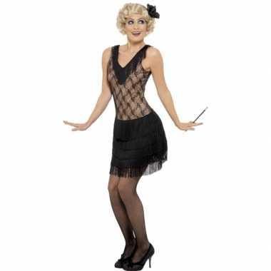Zwart jaren 20 verkleedjurkje voor dames